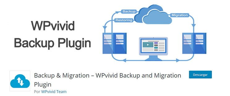 WPvivid Backup Plugin para backups o migrar WordPress